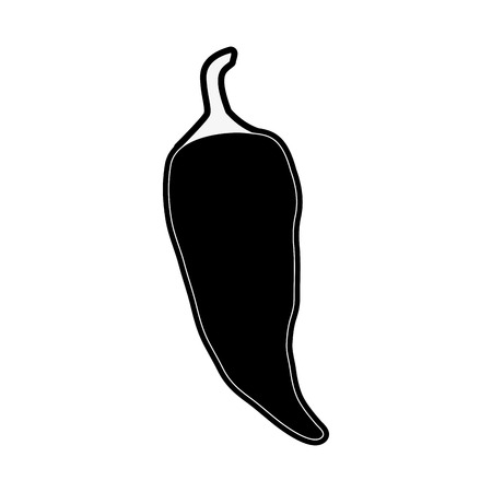 Chilli spicy food icon vector illustration graphic design Ilustração