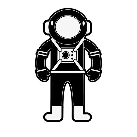 Astronaut cartoon isolated icon vector illustration graphic design