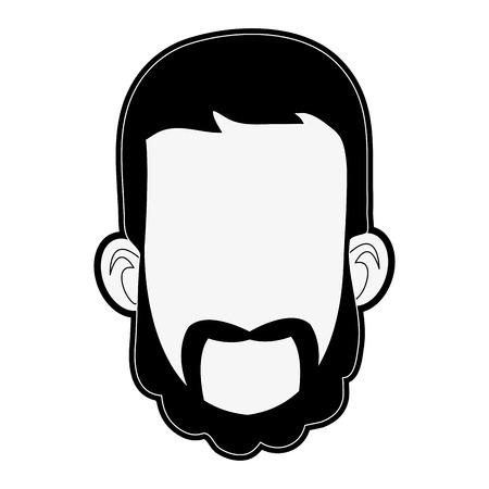 Man face cartoon icon vector illustration graphic design