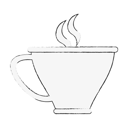Delicious tea cup icon vector illustration graphic design Vettoriali