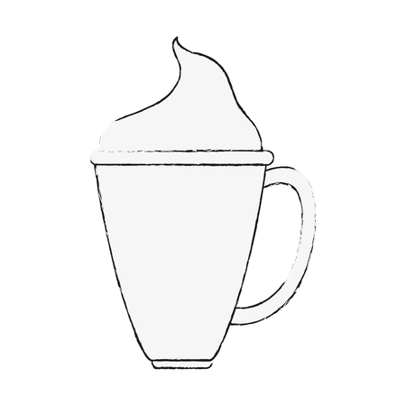 Coffee with chantilly cream icon vector illustration graphic design Illustration