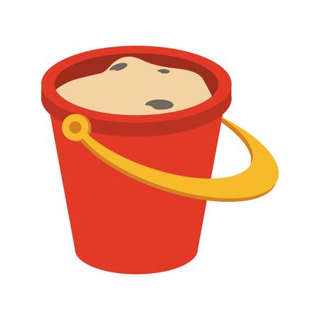 Sand bucket isolated icon vector illustration graphic design 일러스트
