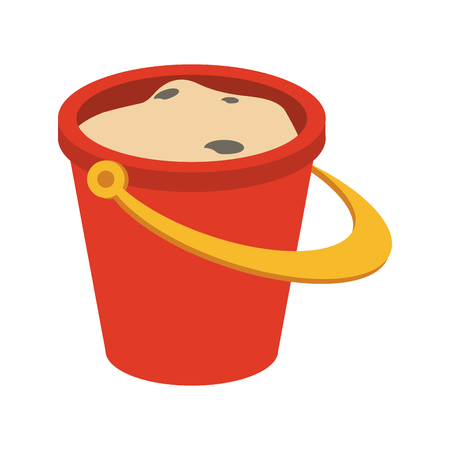 Sand bucket isolated icon vector illustration graphic design Vettoriali