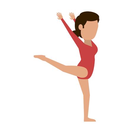 Woman ballet dancer icon vector illustration graphic design Illustration