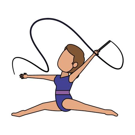 Woman ballet dancer icon vector illustration graphic design Vettoriali