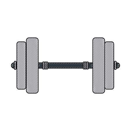 Dumbbell weight isolated Stock Vector - 91915784