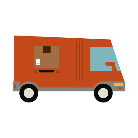 Delivery van vehicle icon vector illustration graphic design