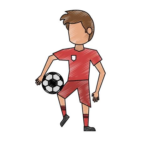 Soccer player cartoon avatar Illustration
