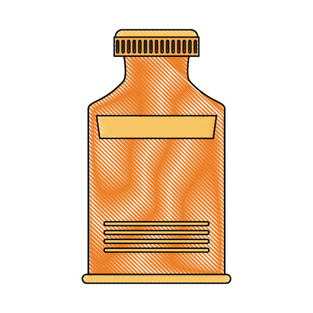 Vitamins bottle isolated Vector illustration on white background. Illustration