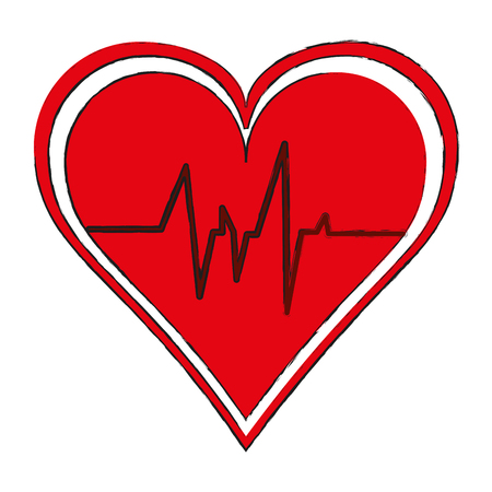 Heartbeat medical symbol
