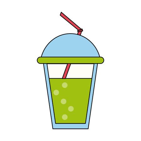 Soda drink cup icon vector illustration graphic design