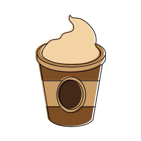 Capuccino drink cup icon vector illustration graphic design