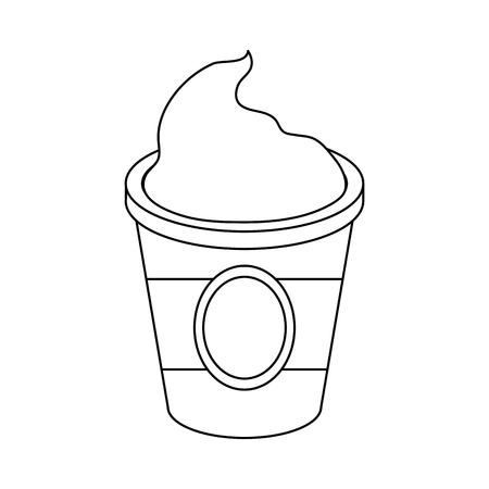 Capuccino drink vector de illustratie grafisch ontwerp van het koppictogram