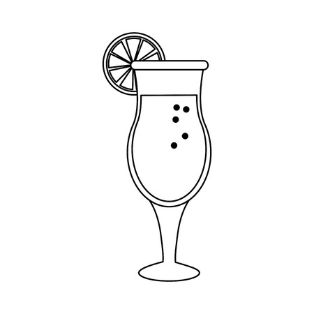 Delicious Summer cocktail icon vector illustration graphic design Ilustrace
