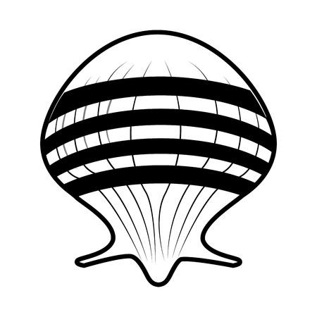 Seashell marine symbol icon vector illustration graphic design.