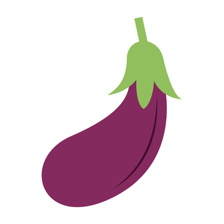 Eggplant fresh vegetable icon vector illustration graphic design Stock Illustratie
