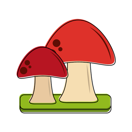 Red fungus symbol icon vector illustration graphic design