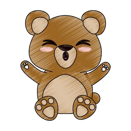 Bear cute cartoon icon illustration graphic design