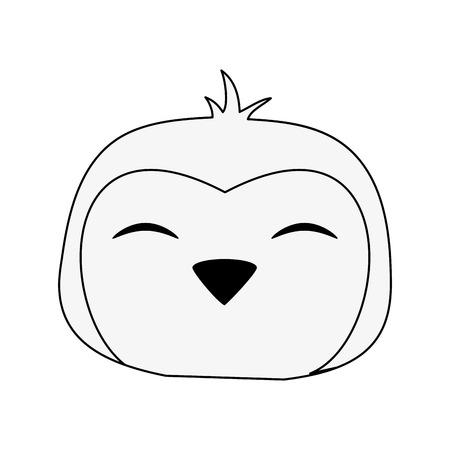 Cute penguin cartoon icon vector illustration graphic design Illustration