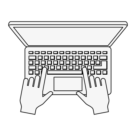Laptop open isolated icon vector illustration graphic design