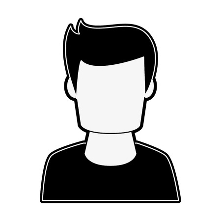 Man avatar profile icon vector illustration graphic design