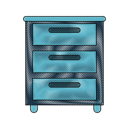 Office file cabinet icon vector illustration graphic design