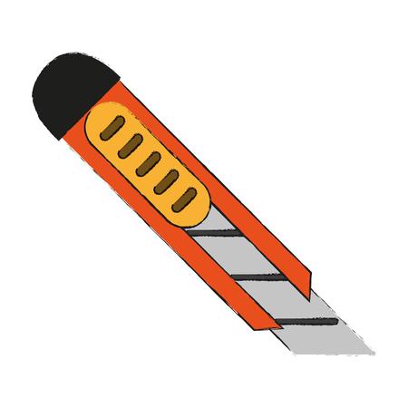 Paper scalpel tool icon vector illustration graphic design Ilustracja