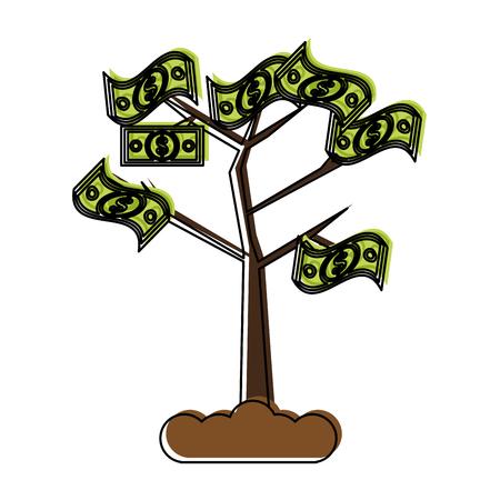 Money tree symbol icon vector illustration graphic design Illustration