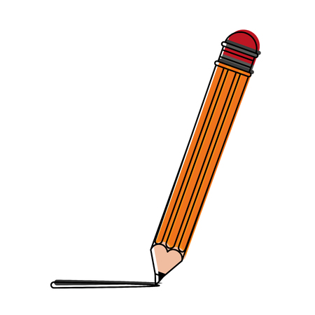 Wooden pencil isolated icon vector illustration graphic design