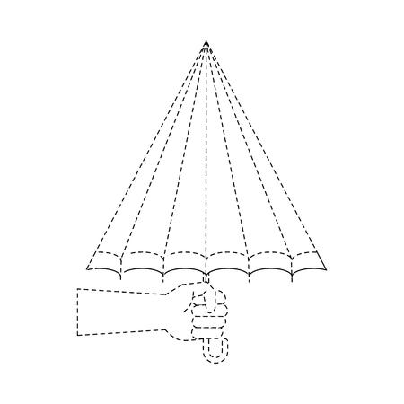 Umbrella weather symbol icon vector illustration graphic design