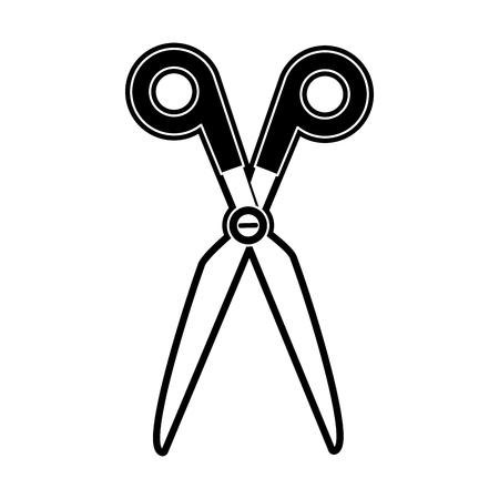 Scissor utensil isolated icon vector illustration graphic design