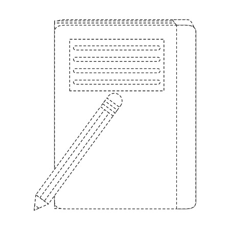 Notebook closed with pencil icon vector illustration graphic design