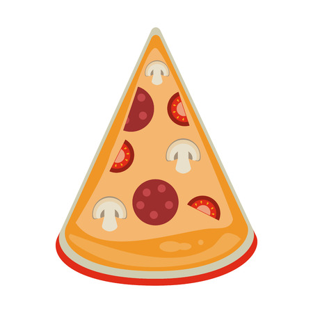 Pizza italian food icon vector illustration graphic design Иллюстрация