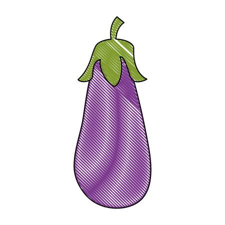 Eggplant fresh vegetable icon vector illustration graphic design Ilustração