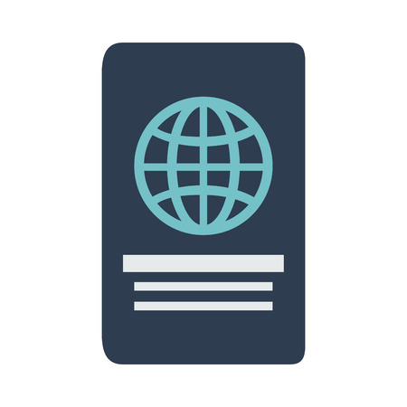 Passport travel document icon vector illustration graphic design 向量圖像