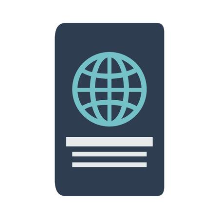 Passport travel document icon vector illustration graphic design Vettoriali