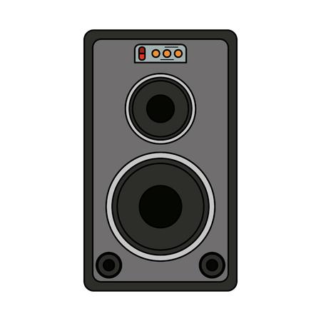 Guitare amplificateur technologie icône vector illustration graphisme