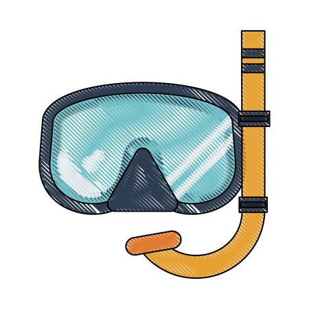 Diving mask isolated icon vector illustration graphic design Çizim
