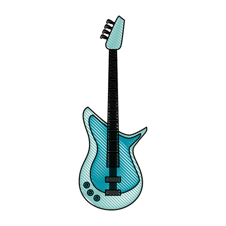 Eletric guitar isolated icon vector illustration graphic design