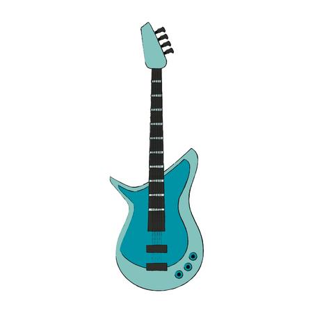 Eletric guitar isolated icon vector illustration graphic design