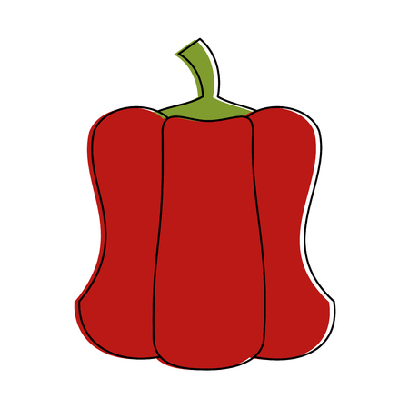 Pepper vegetable isolated icon vector illustration graphic design Illusztráció
