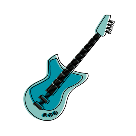 Electric guitar isolated icon vector illustration graphic design Illustration