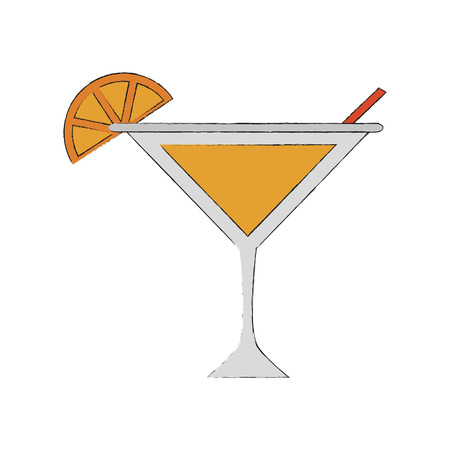Lemon cocktail drink icon vector illustration graphic design
