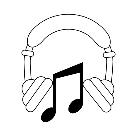 Music headphones device icon illustration graphic design.