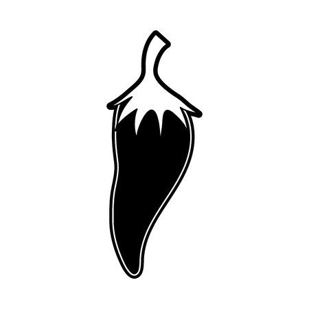 Chilli spicy vegetable icon vector illustration graphic design