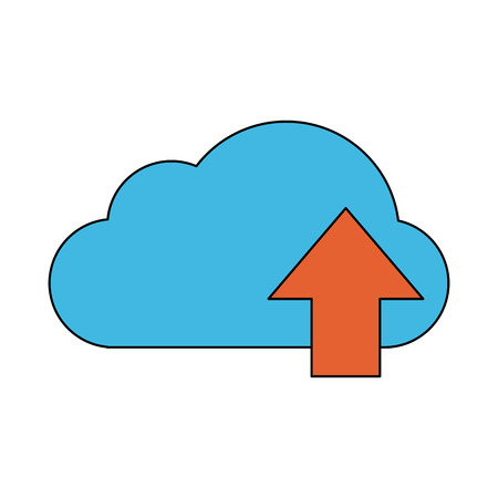 Cloud computing technology symbol icon vector illustration graphic design