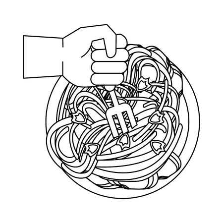 Spaghetti food restaurant icon vector illustration graphic design Stock Illustratie