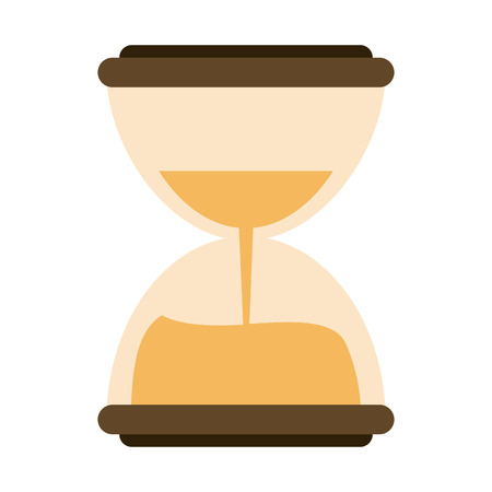 Hourglass antique clock icon vector illustration graphic design