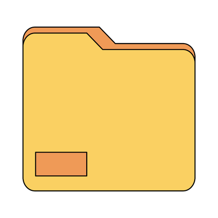Folder document symbol icon vector illustration graphic design