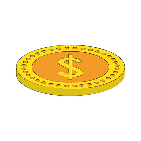 Coin money isolated icon vector illustration graphic design Illustration